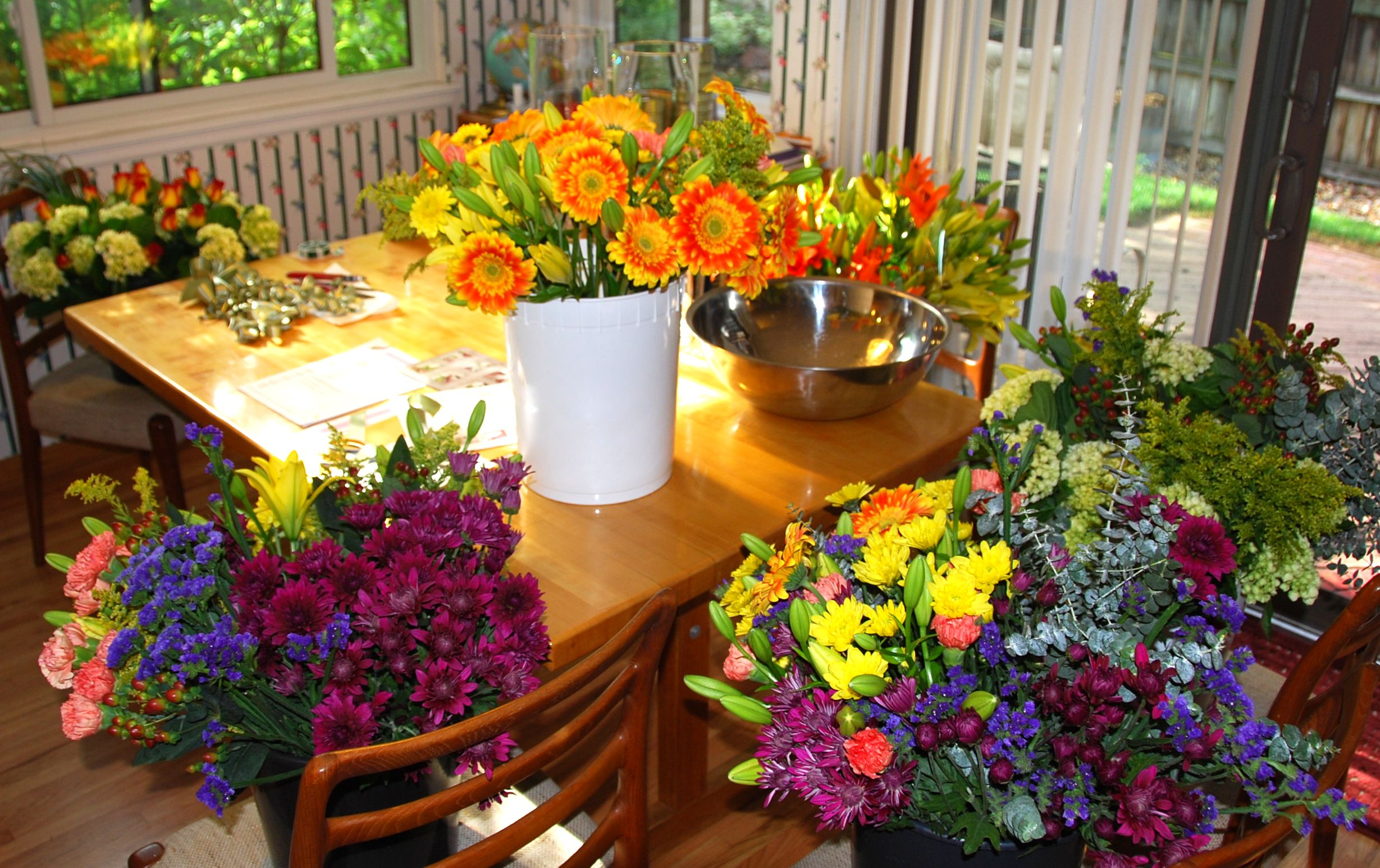 Gardening classes Fresh flowers Ellen Ashley Greensboro Learn