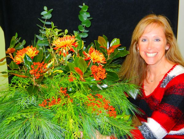 Nov 22nd Winter Arrangements with just a few store bought mums